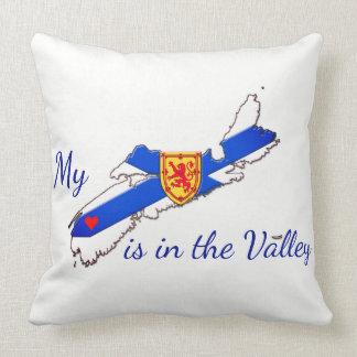 私のハートは谷のノバスコシアの枕青にあります クッション
