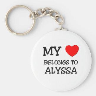 私のハートはALYSSAに属します キーホルダー