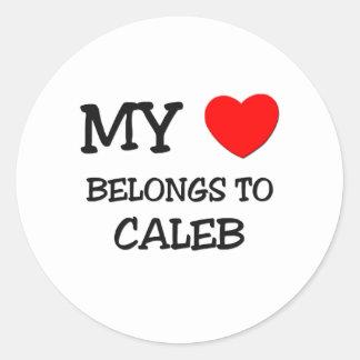 私のハートはCalebに属します ラウンドシール