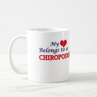 私のハートはChiropodistに属します コーヒーマグカップ