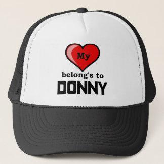 私のハートはDonnyに属します キャップ