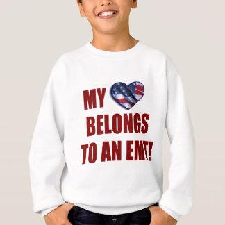 私のハートはEMTに属します スウェットシャツ