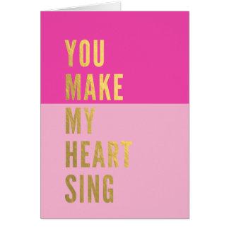 私のハートを歌わせます ノートカード
