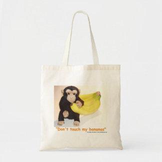 私のバナナペット猿の昼食のバッグに触れないで下さい トートバッグ