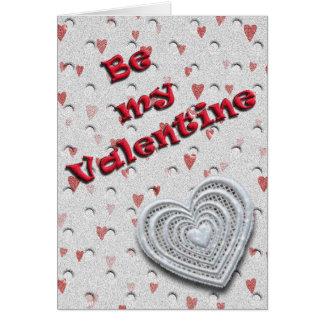 私のバレンタインがあって下さい グリーティングカード