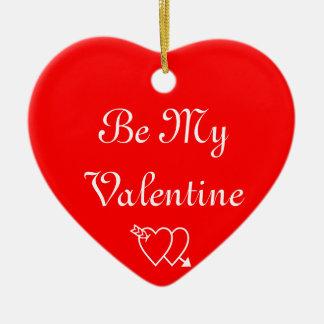 私のバレンタインがあって下さい セラミックオーナメント