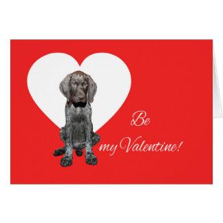 私のバレンタインがあって下さい! 光沢のあるハイイログマのバレンタイン カード