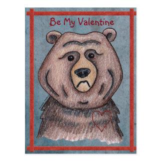 私のバレンタインくまの郵便はがきがあって下さい ポストカード