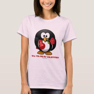 私のバレンタインですか。 (Linuxのタキシードのハートは上がりました) Tシャツ