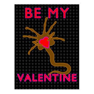 私のバレンタインのための顔の抱擁 ポストカード