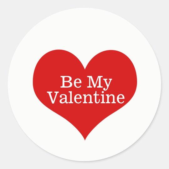 私のバレンタインのステッカーがあって下さい ラウンドシール