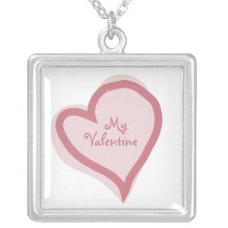 私のバレンタインのネックレス シルバープレートネックレス