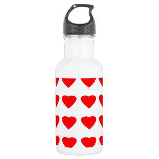 私のバレンタインのハート36Red TranspのjGibneyがあって下さい ウォーターボトル