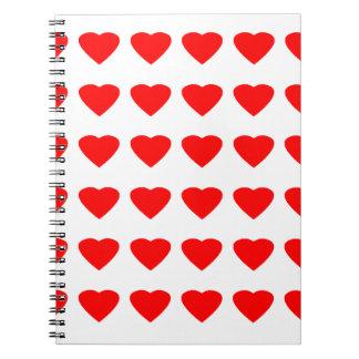 私のバレンタインのハート36Red TranspのjGibneyがあって下さい ノートブック