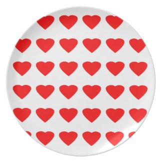 私のバレンタインのハート36Red TranspのjGibneyがあって下さい プレート