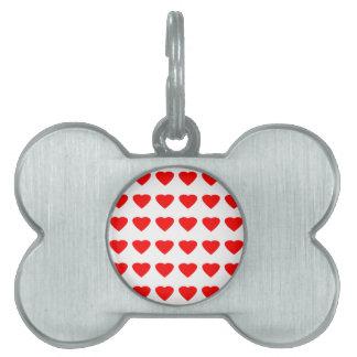 私のバレンタインのハート36Red TranspのjGibneyがあって下さい ペットネームタグ