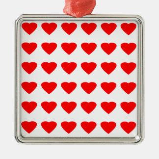 私のバレンタインのハート36Red TranspのjGibneyがあって下さい メタルオーナメント