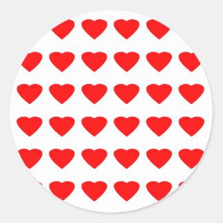私のバレンタインのハート36Red TranspのjGibneyがあって下さい ラウンドシール