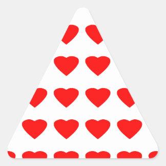 私のバレンタインのハート36Red TranspのjGibneyがあって下さい 三角形シール