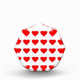 私のバレンタインのハート36Red TranspのjGibneyがあって下さい 表彰盾