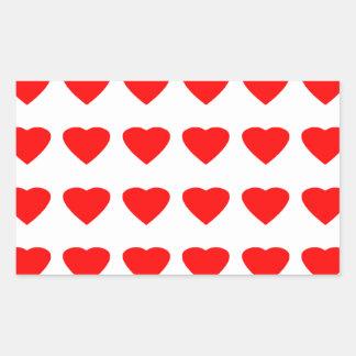 私のバレンタインのハート36Red TranspのjGibneyがあって下さい 長方形シール