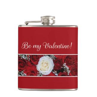 私のバレンタインのバラがあって下さい フラスク