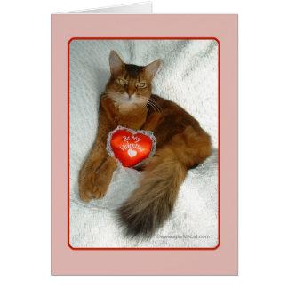 私のバレンタインの子猫カードがあって下さい カード