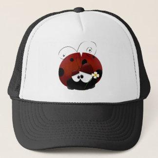 私のバレンタインの赤いてんとう虫の漫画があって下さい キャップ