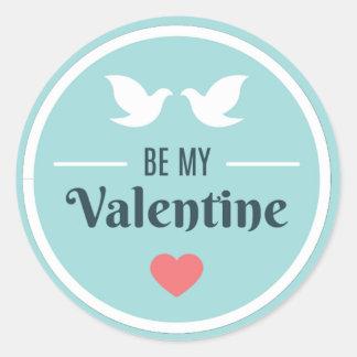 私のバレンタインの鳩があって下さい ラウンドシール
