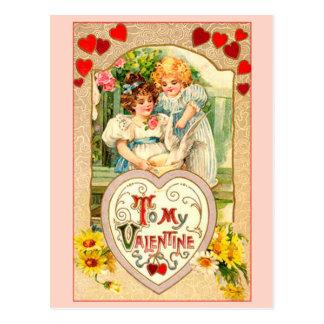 私のバレンタインへのヴィンテージ ポストカード