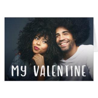 私のバレンタイン|のシンプルでモダンな文字およびあなたの写真 カード