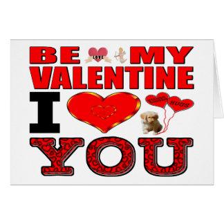 私のバレンタインI愛があって下さい カード