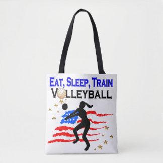 私のバレーボールの夢のデザイン住んでいます トートバッグ
