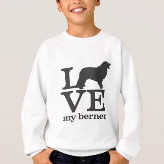 私のバーニーズ・マウンテン・ドッグを愛して下さい スウェットシャツ