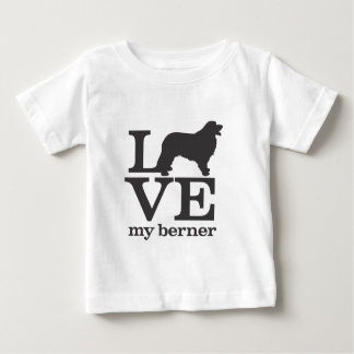 私のバーニーズ・マウンテン・ドッグを愛して下さい ベビーTシャツ