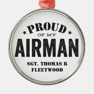 私のパイロットの誇りを持った メタルオーナメント