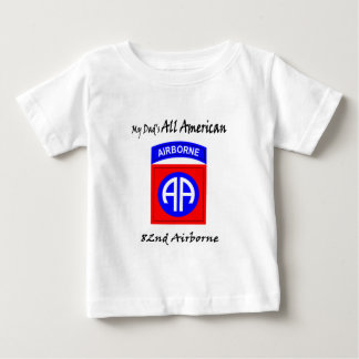 私のパパのすべてのアメリカの幼児のワイシャツ ベビーTシャツ