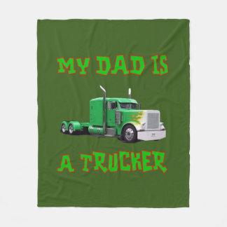 私のパパはトラック運転手のフリースブランケットです フリースブランケット