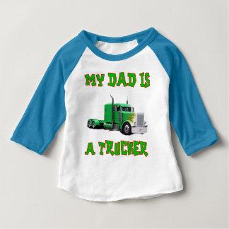 私のパパはトラック運転手のワイシャツです ベビーTシャツ