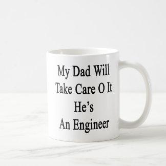 私のパパは彼によってがエンジニアであるそれを大事にします コーヒーマグカップ