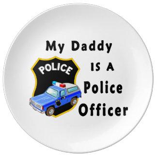 私のパパは警官です 磁器プレート