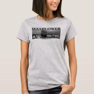 私のパパはMayflowerの証明された子孫です Tシャツ
