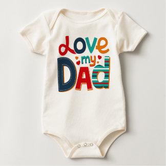 私のパパを愛して下さい ベビーボディスーツ
