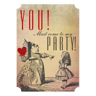 ! 私のパーティに来なければなりません! (赤い女王及びアリス) カード