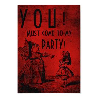 ! 私のパーティーに来なければなりません! (女王及びアリス-赤) カード