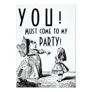 ! 私のパーティーに来なければなりません! (赤い女王及びアリス) カード