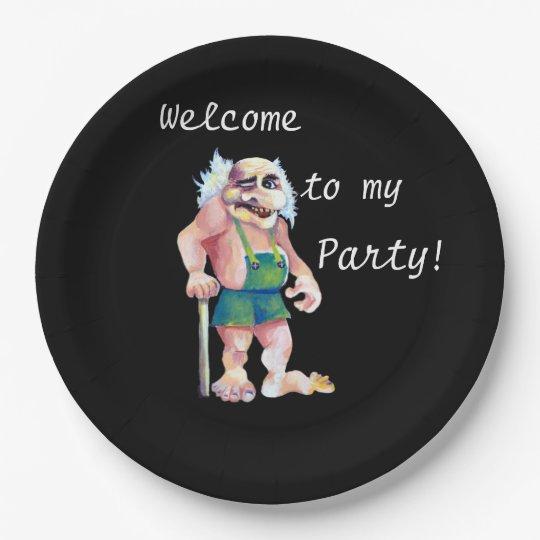 私のパーティーへの歓迎-スカンジナビアの鬼 ペーパープレート