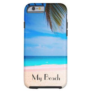 私のビーチ、熱帯ビーチの眺め iPhone 6 タフケース