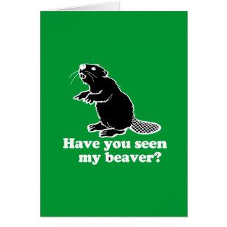 私のビーバーを見ましたか。 カード