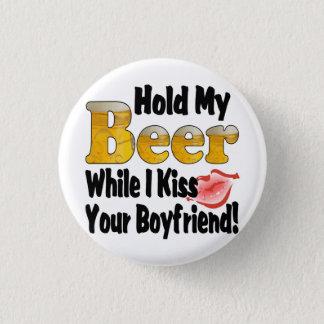 私のビールボーイフレンドの唇を握って下さい 3.2CM 丸型バッジ